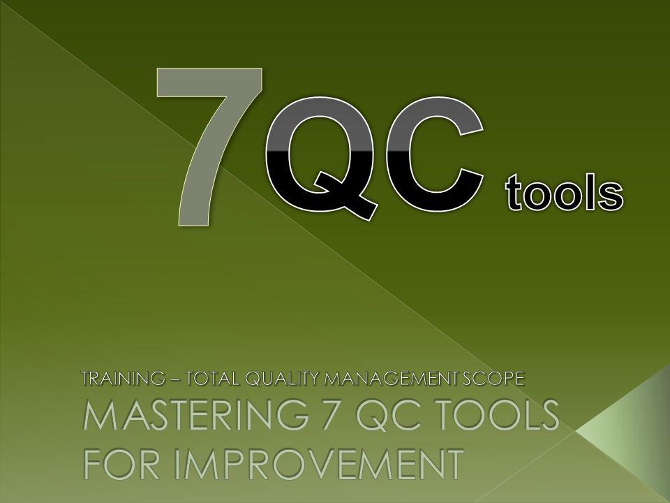 Sasaran Pelatihan Setelah mengikuti pelatihan ini, diharapkan peserta: Memahami konsep Quality Control Memahami teknik statistik dasar 7 QC tools Mampu mengidentifikasi teknik statistik 7 QC tools yang sesuai untuk menganalisa data di perusahaan dan melakukan improvement