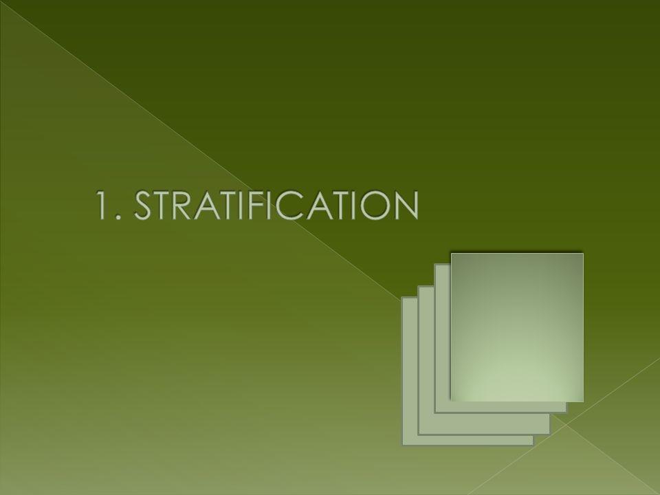 Definisi: Adalah mengelompokkan/ menggolongkan/ menstratifikasikan data berdasarkan faktor tertentu untuk analisa yang lebih rinci Contoh: Faktor Stratifikasi Umum Mengelompokkan data berdasarkan ….