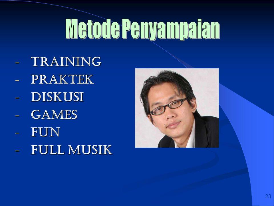 23 - Training - Praktek - Diskusi - Games - Fun - Full Musik