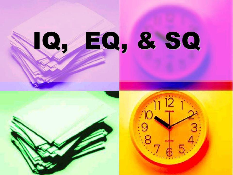 IQ, EQ, & SQ