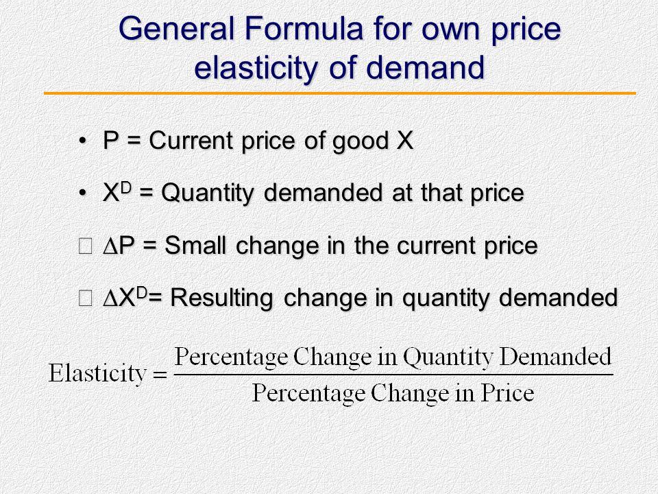 Size of Price Elasticities Unit elastic: own price elasticity equal to 1Unit elastic: own price elasticity equal to 1 0123456 Unit elastic InelasticEl
