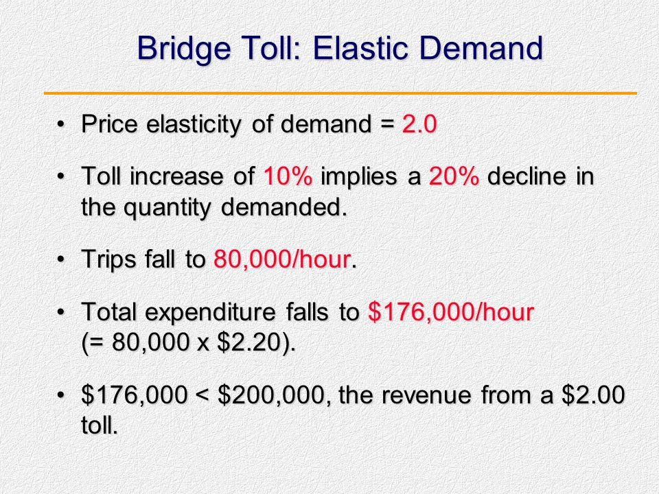 Contoh: Tarif Tol Jembatan Tarif tol jembatan the George Washington adalah $2.00/trip.Tarif tol jembatan the George Washington adalah $2.00/trip. Anda