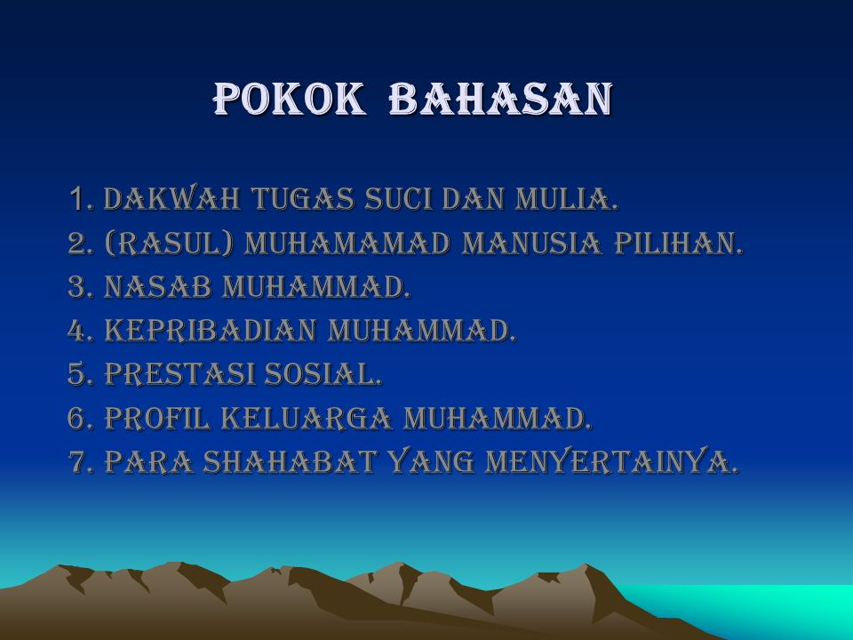 Muhammad Qabla bitsah (sebelum diutus jadi Rasul) Tugas kerasulan (setidaknya 3 hal): > menerima wahyu.