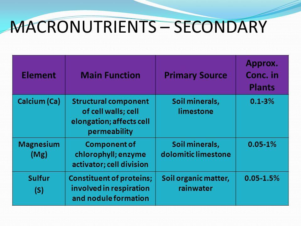 Faktor-faktor yang mempengaruhi ketersediaan Mn : 1.Keseimbangan dengan ion logam berat lain 2.pH dan karbonat pengapuran Mn rendah 3.Bahan organik, Menambah Mn 4.Korelasi dengan unsur lain Sumber N mempengaruhi ketersediaan Mn Sumber N mempengaruhi ketersediaan Mn ` PenambahanNH 4 Cl (NH 4 ) 2 SO 4 (NH 4 ) 2 SO 4 NH 4 NO 3 Penyerapan Mn meningkat NH 4 NO 3 Penyerapan Mn meningkat NH 4 H 2 PO 4 NH 4 H 2 PO 4 CO(NH 2 ) 2 CO(NH 2 ) 2 5.Musim & iklim 6.Mikroorganisme