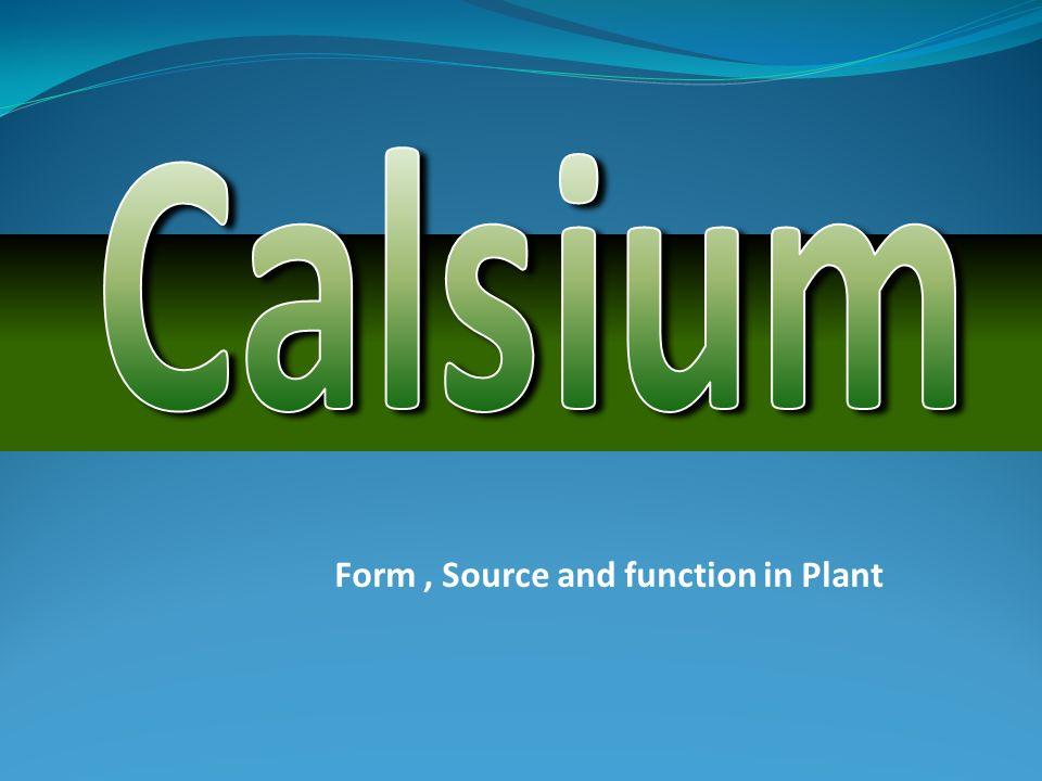 KALSIUM (Ca) Penyusun lamela tengah dinding sel.