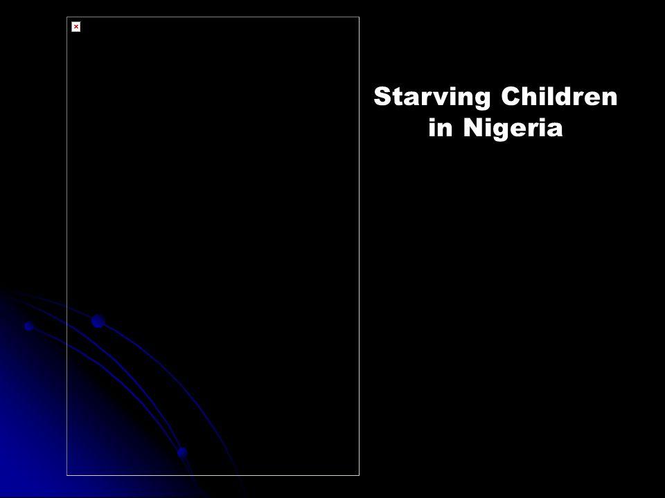 Starving Children in Nigeria