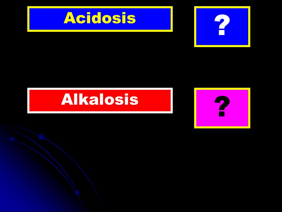 Acidosis ? Alkalosis ?