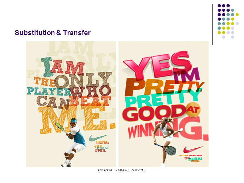 eny erawati - NIM 409253422930 Substitution & Transfer