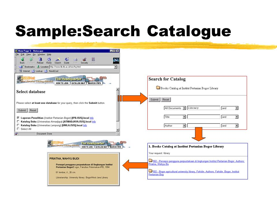 Sample:Search Catalogue