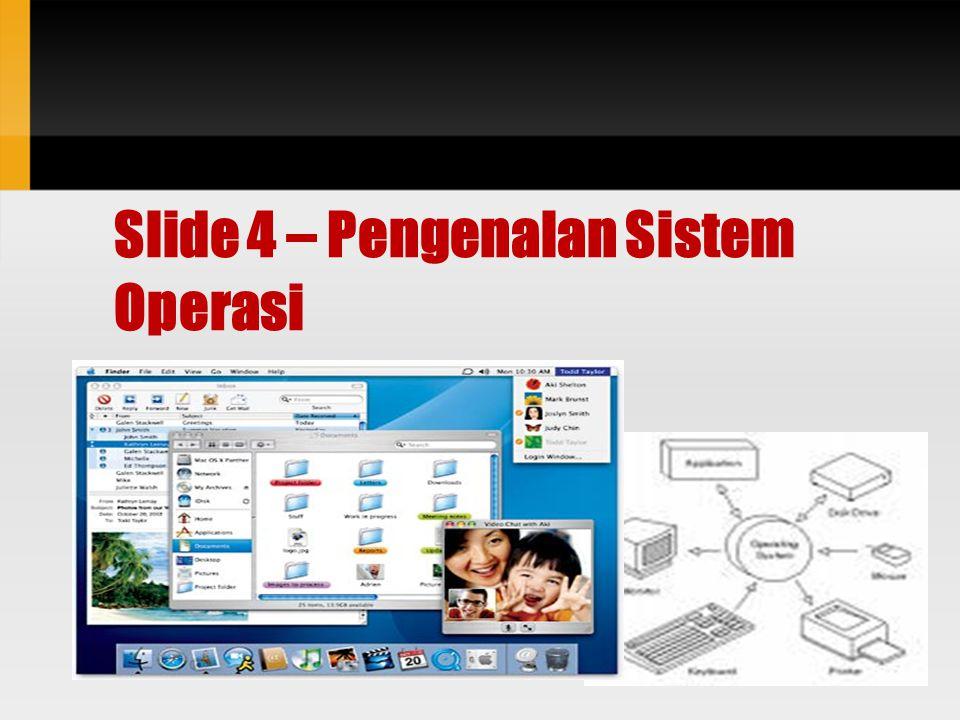 Course Objective Definisi Sistem Operasi.Peran Sistem Operasi dalam Sistem Komputer.