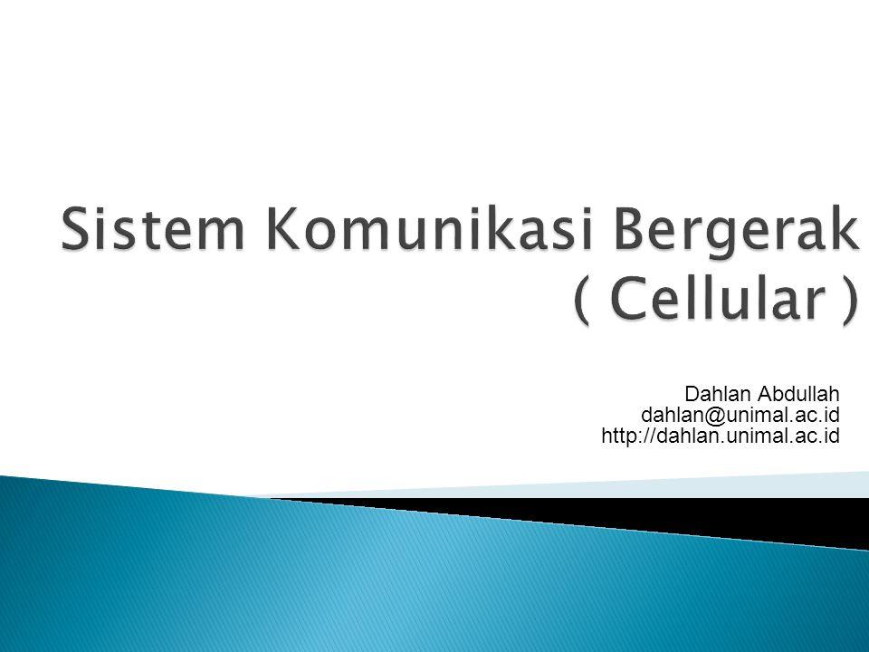 Jaringan seluler atau PLMN (public line mobile network) terdiri dari sejumlah mobile station (MS) yang dihubungkan dengan jaringan radio ke infrastruktur perangkat switching yang berinterkoneksi dengan sistem lain seperti PSTN