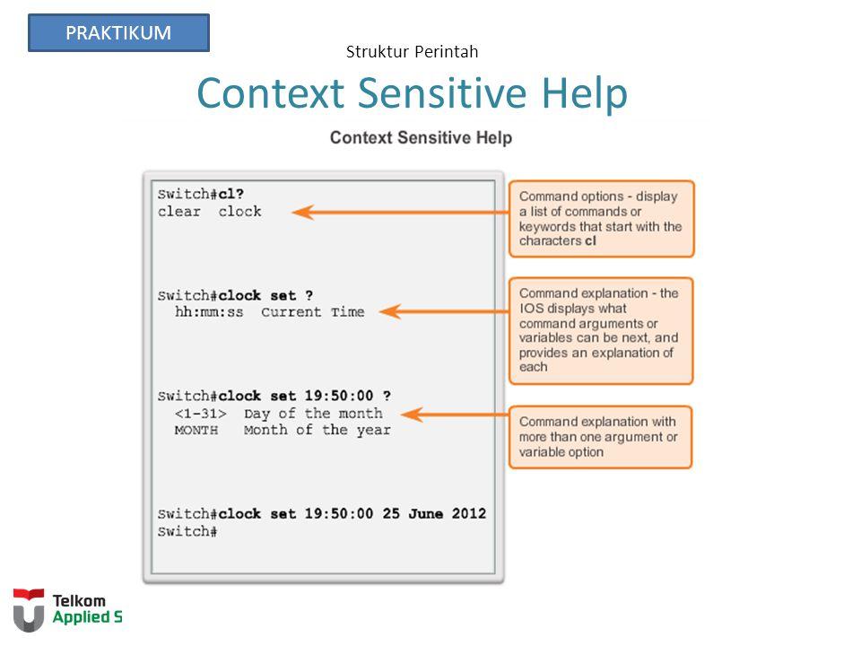 Struktur Perintah Context Sensitive Help PRAKTIKUM