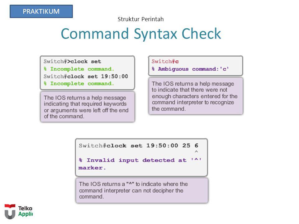Struktur Perintah Command Syntax Check PRAKTIKUM