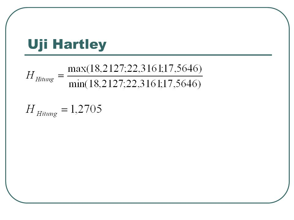Uji Hartley