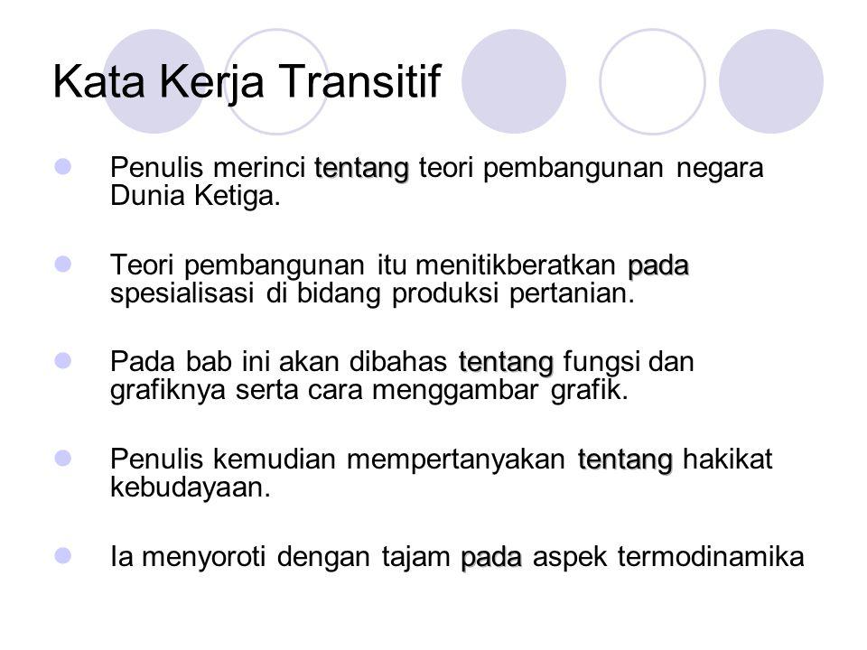 Kata Kerja Transitif