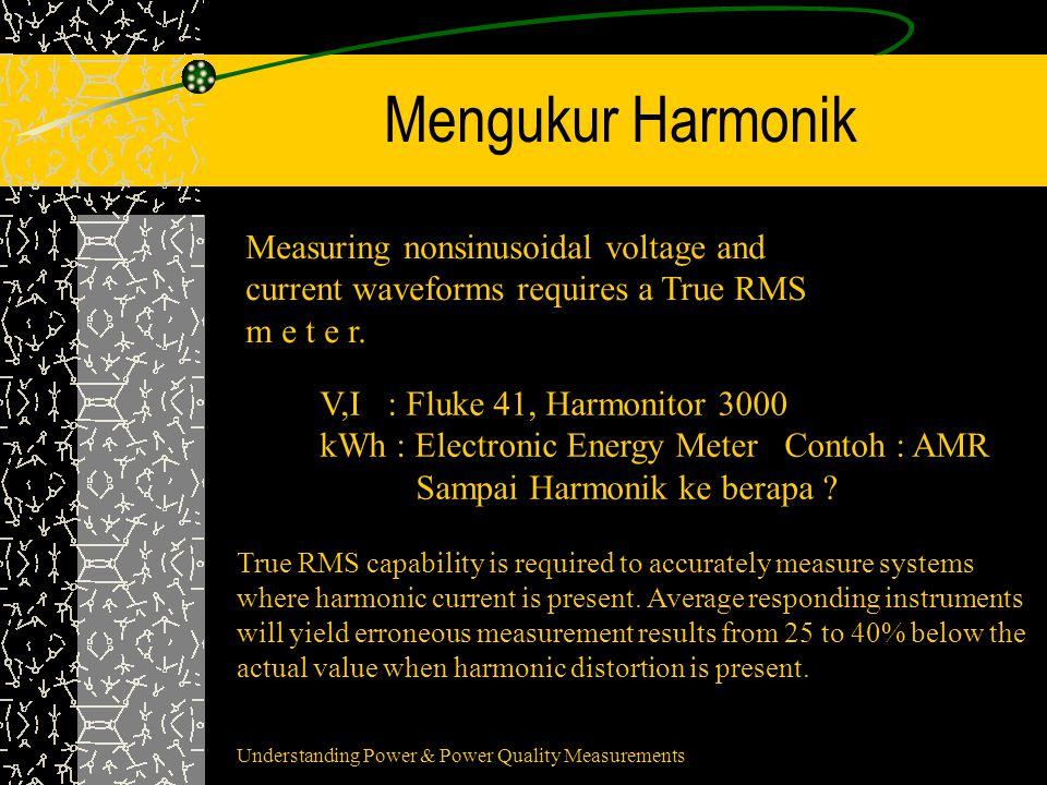 Harmonik Pd 3 Fase 4 Kawat Arus netral bisa mencapai 1,5 kali Arus Fase Secara teoritis 20% harmonik ke-3 menambah arus netral sampai 60% Potensi rugi-rugi jaringan +3%