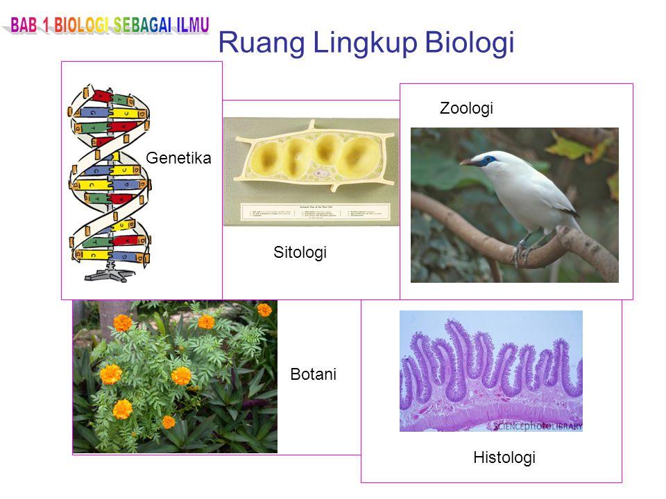 Ruang Lingkup Biologi Zoologi Genetika Histologi Botani Sitologi
