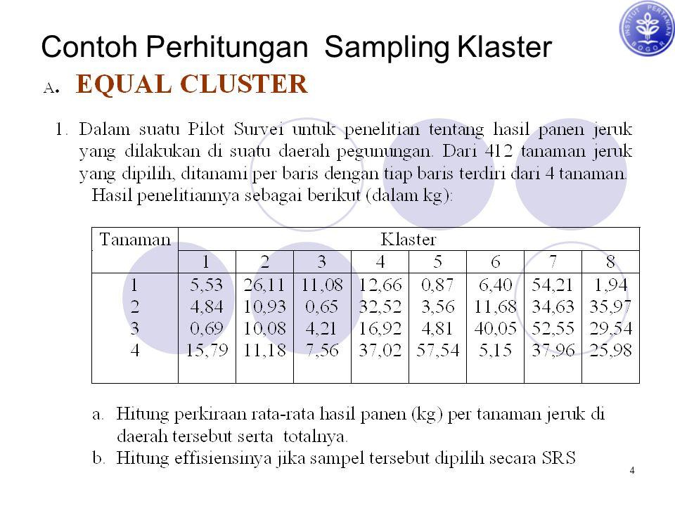 4 Contoh Perhitungan Sampling Klaster