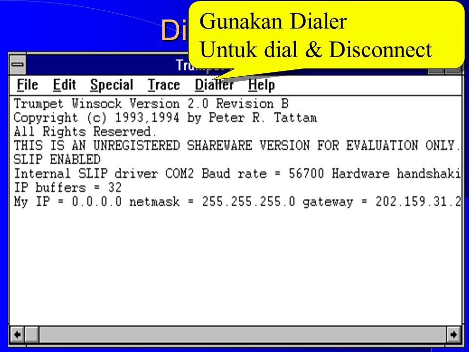 Computer Network Research Group ITB Dial ke ISP Gunakan Dialer Untuk dial & Disconnect