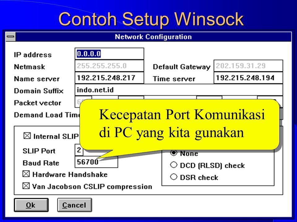 Computer Network Research Group ITB Contoh Setup Winsock Kecepatan Port Komunikasi di PC yang kita gunakan