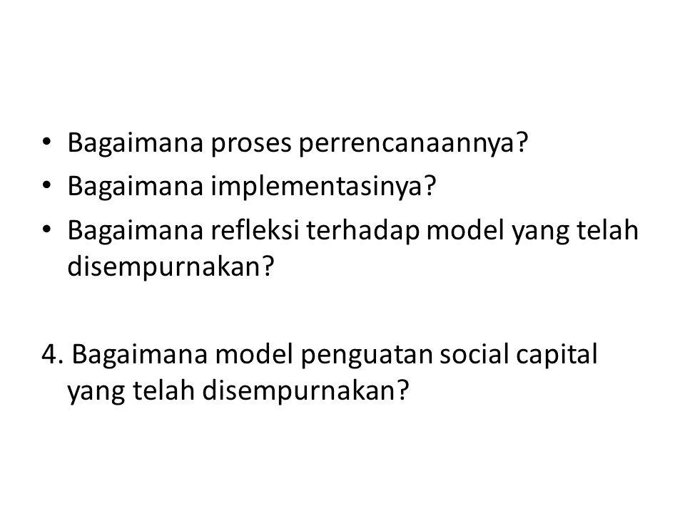 Bagaimana proses perrencanaannya? Bagaimana implementasinya? Bagaimana refleksi terhadap model yang telah disempurnakan? 4. Bagaimana model penguatan