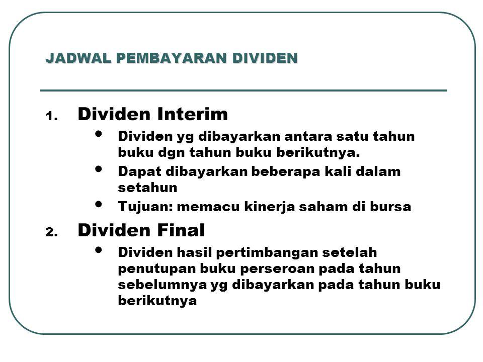 JADWAL PEMBAYARAN DIVIDEN 1.