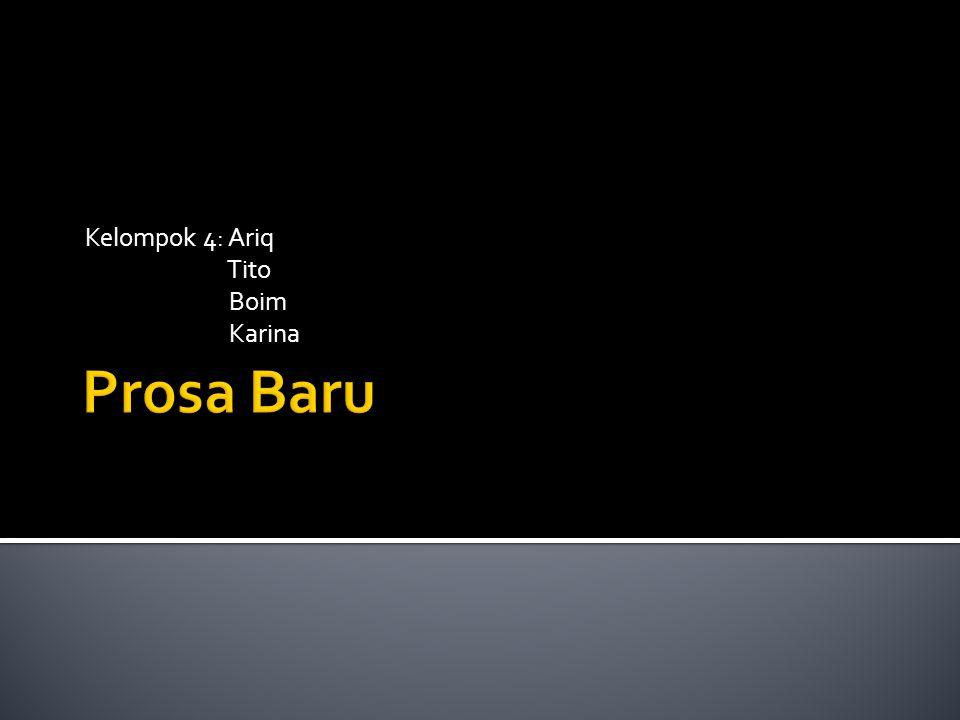 Kelompok 4: Ariq Tito Boim Karina