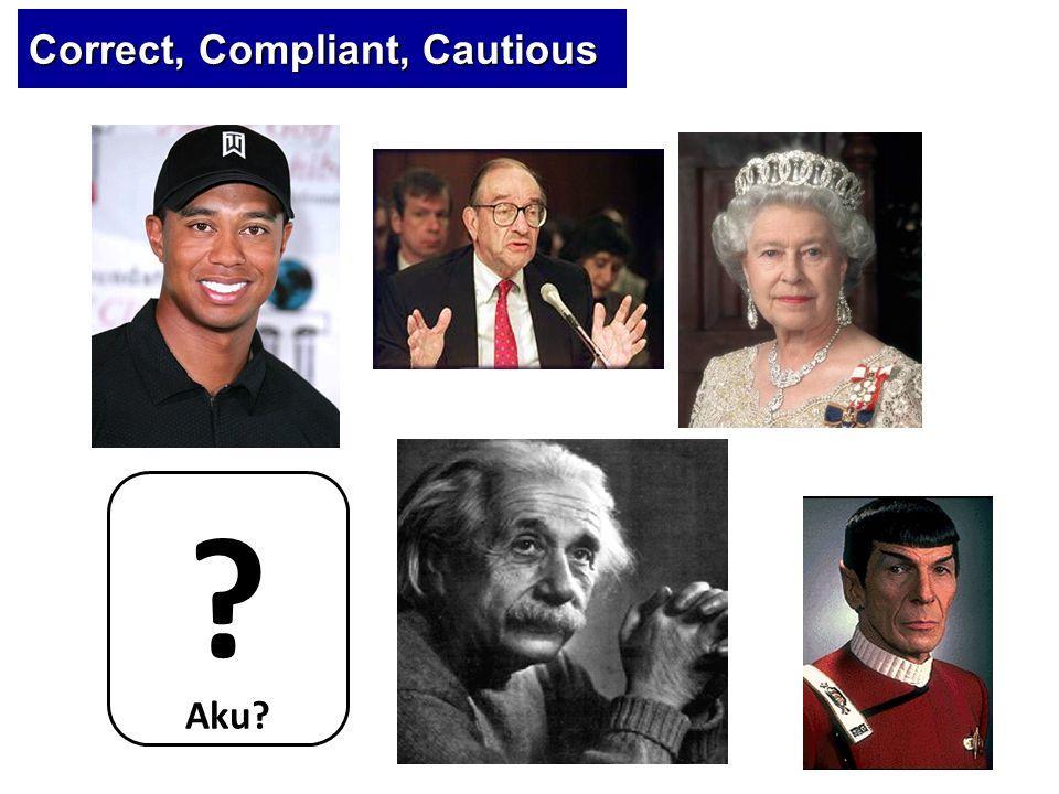 Correct, Compliant, Cautious Aku? ?