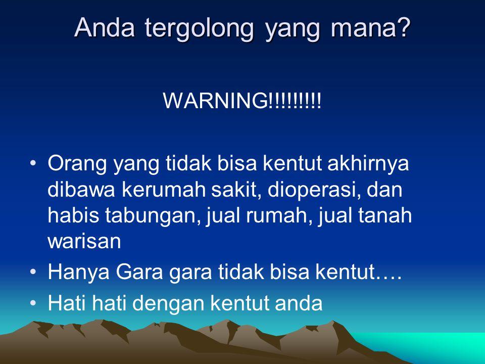Anda tergolong yang mana.WARNING!!!!!!!!.