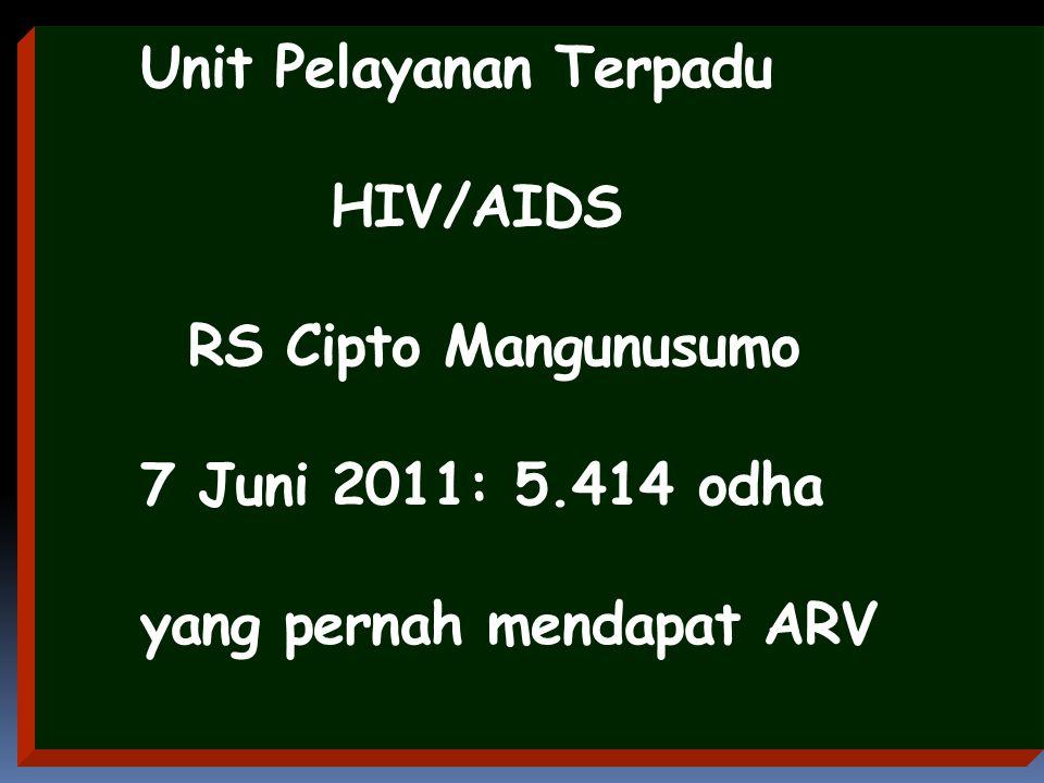 Unit Pelayanan Terpadu HIV/AIDS RS Cipto Mangunusumo 7 Juni 2011: 5.414 odha yang pernah mendapat ARV