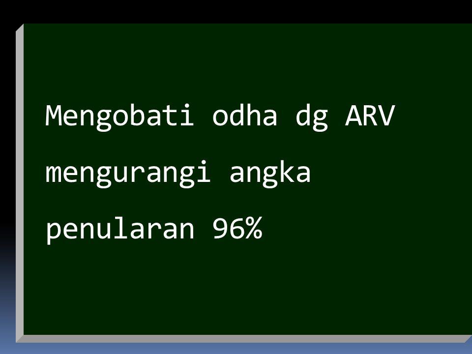 Mengobati odha dg ARV mengurangi angka penularan 96%