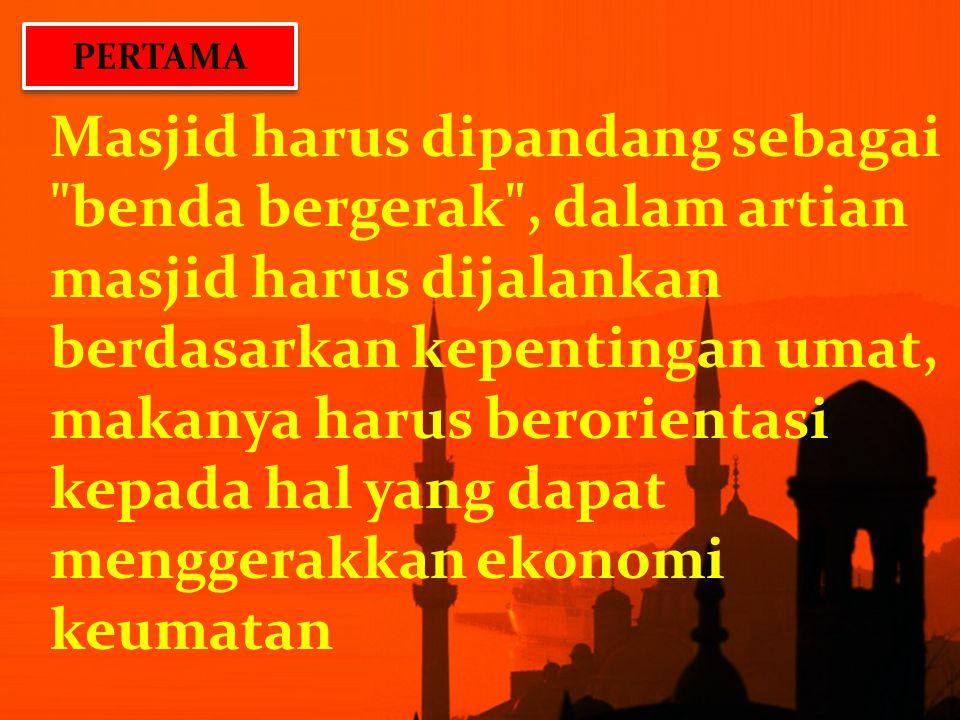 Masjid harus dipandang sebagai