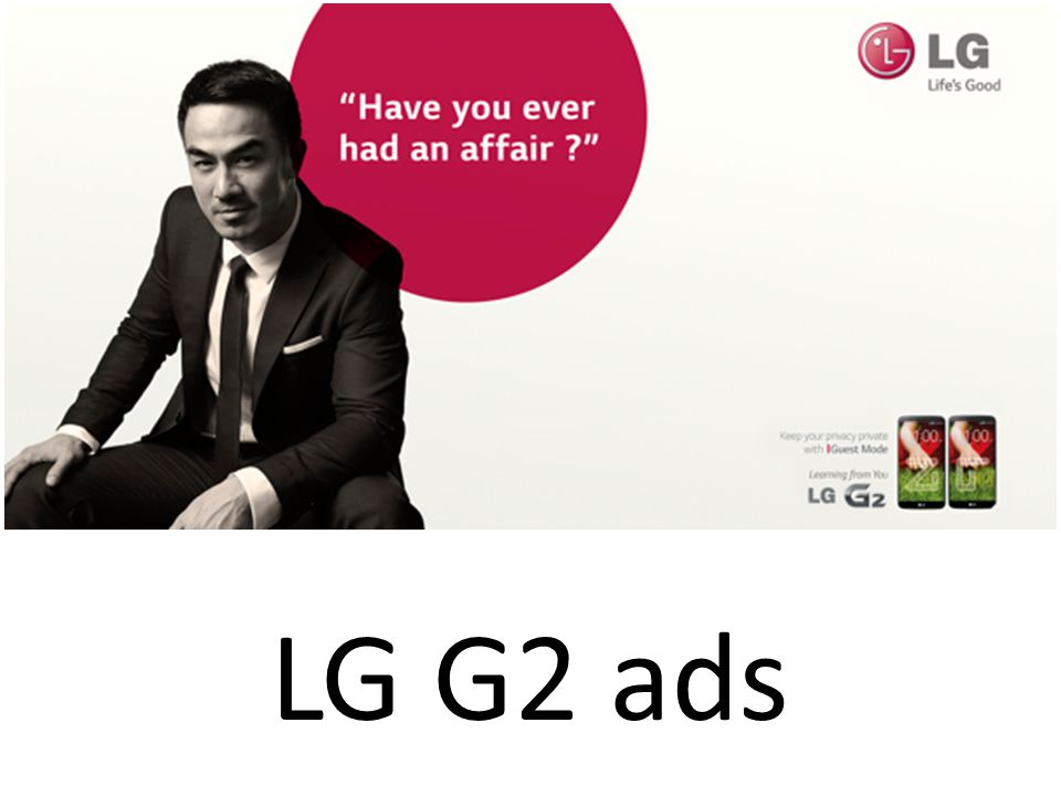 LG G2 ads
