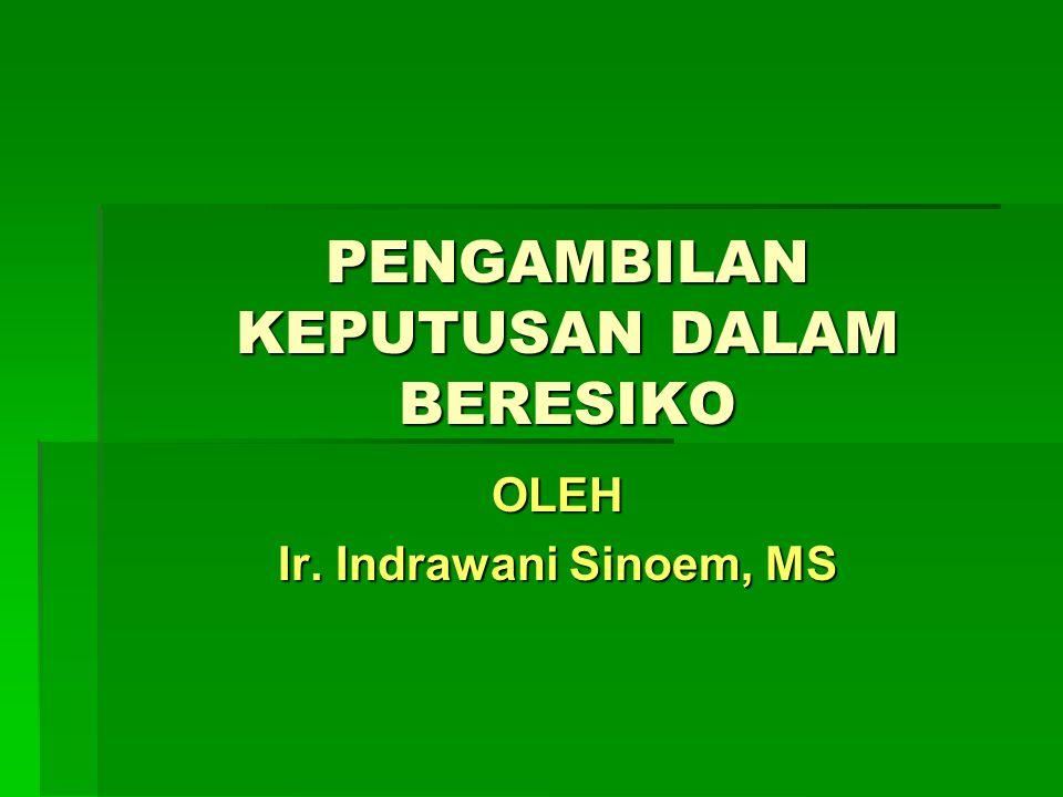 PENGAMBILAN KEPUTUSAN DALAM BERESIKO OLEH Ir. Indrawani Sinoem, MS