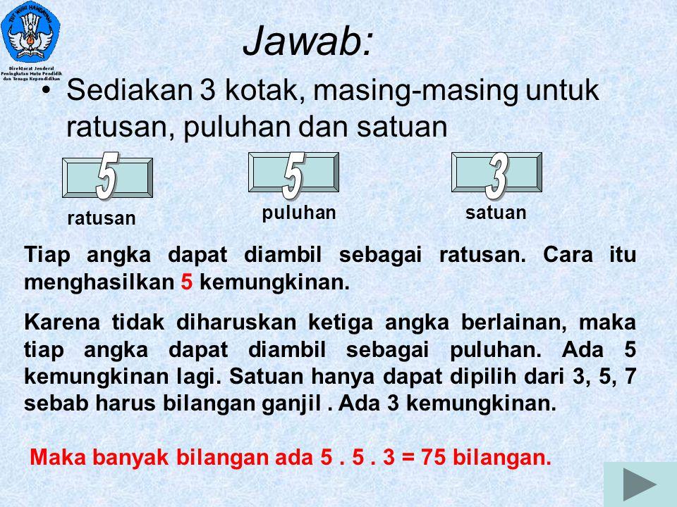 14 TUGAS Seorang murid diminta mengerjakan 9 dari 10 soal ulangan,tetapi nomor 1 sampai dengan nomor 5 harus dikerjakan.