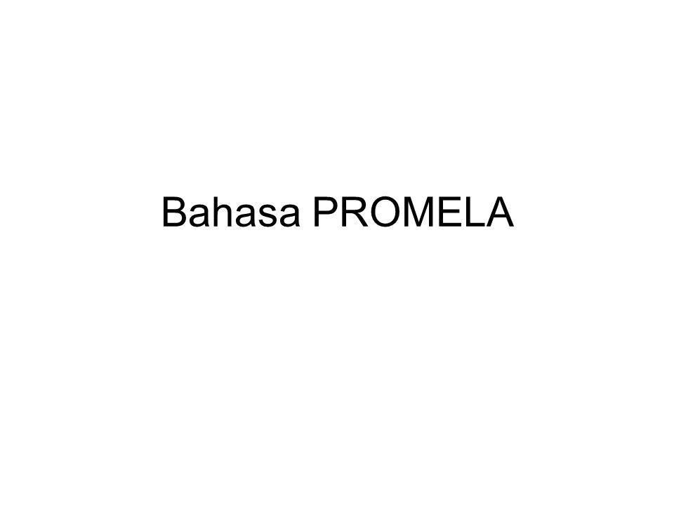 PROMELA & SPIN - Budi Rahardjo4 OBJECTS Ada 3 objects (akan dijelaskan nanti) –Processes –Message channels –State variables Object ini bisa ditransalasikan menjadi finite state machine