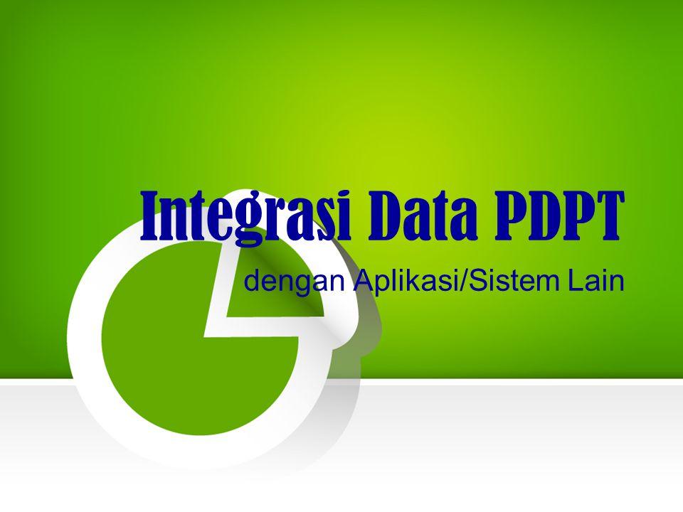 Integrasi Data PDPT dengan Aplikasi/Sistem Lain