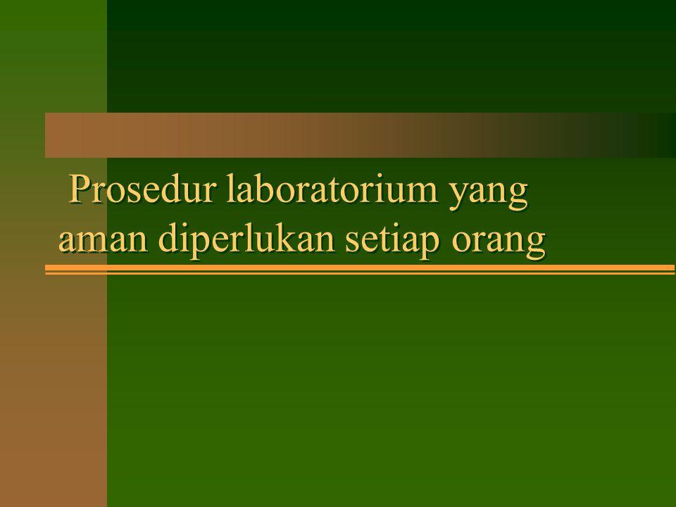 KEAMANAN LABORATORIUM Dipresentasikan Oleh: JONI KUSNADI Laboratorium Sentral Ilmu Hayati Universitas Brawijaya