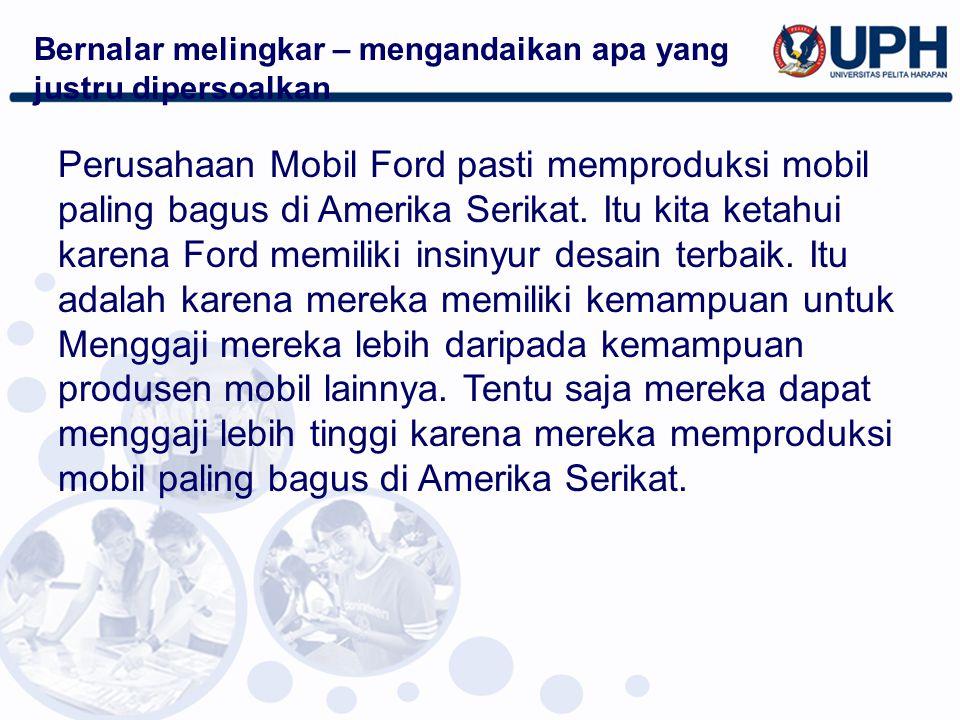 Perusahaan Mobil Ford pasti memproduksi mobil paling bagus di Amerika Serikat. Itu kita ketahui karena Ford memiliki insinyur desain terbaik. Itu adal