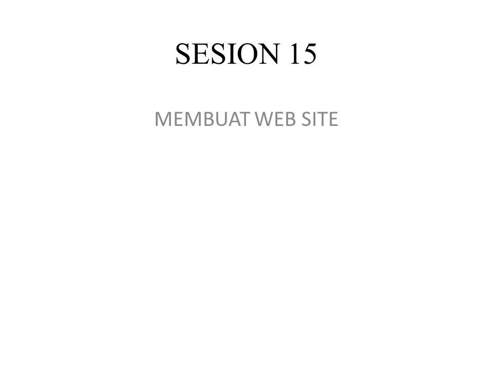 SESION 15 MEMBUAT WEB SITE