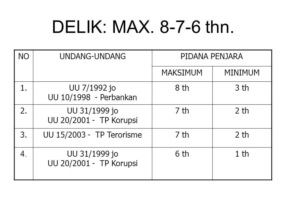 DELIK: MAX.8-7-6 thn.