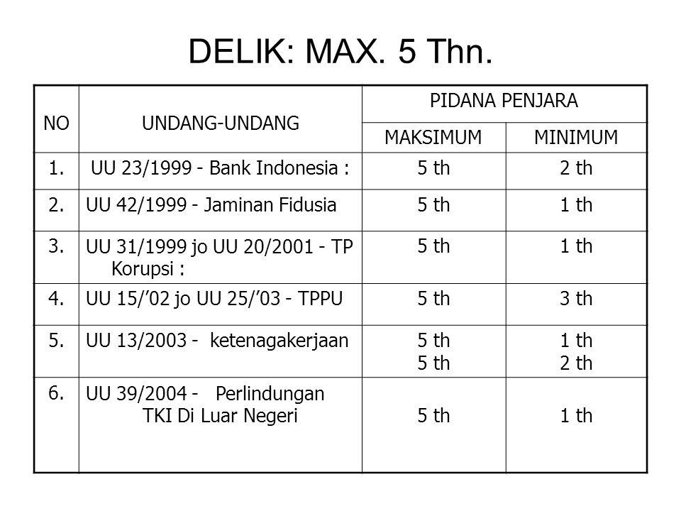 DELIK: MAX.5 Thn.