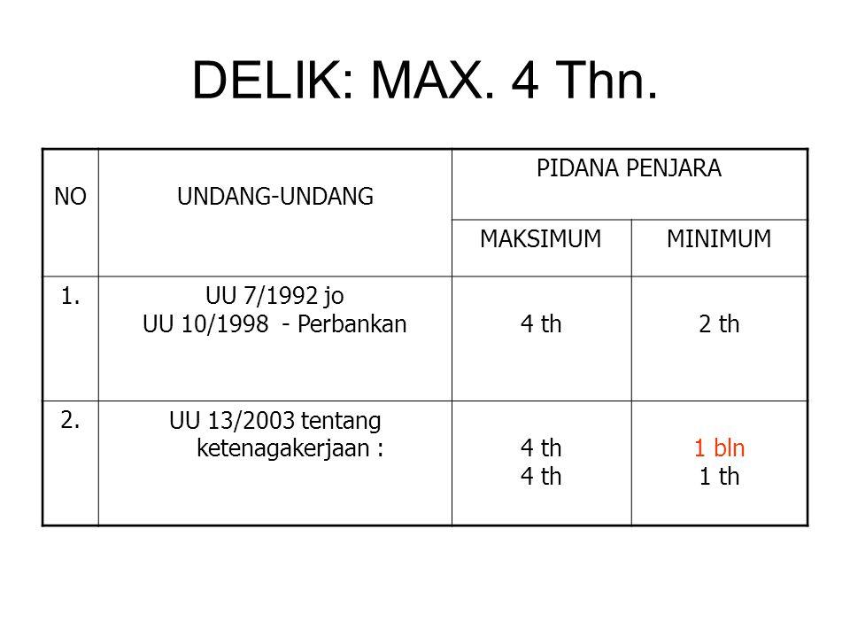 DELIK: MAX.4 Thn.