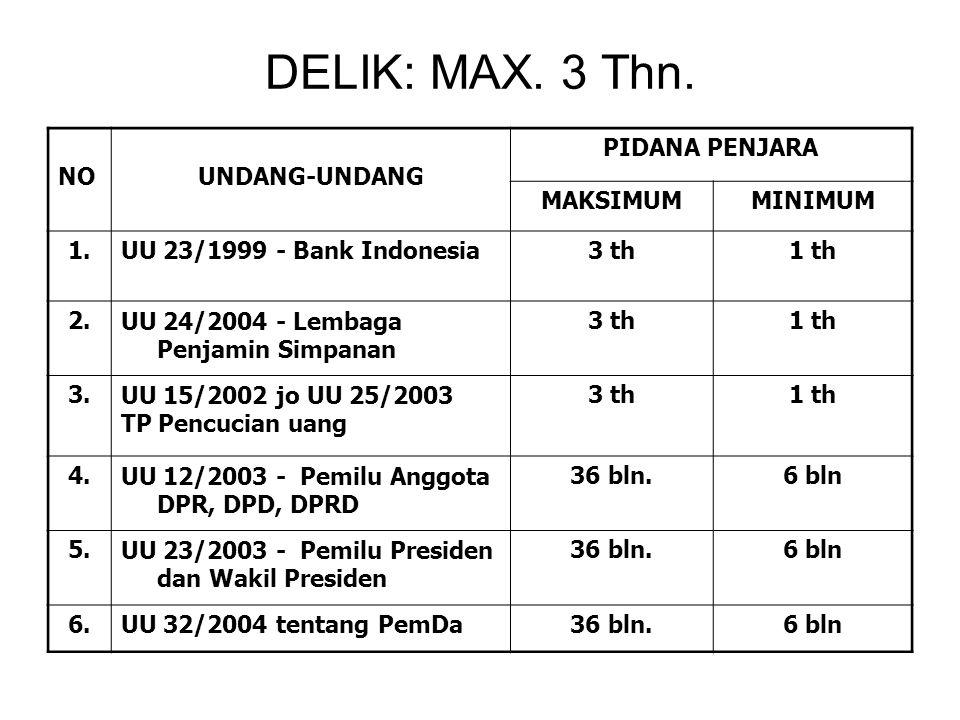 DELIK: MAX.3 Thn.