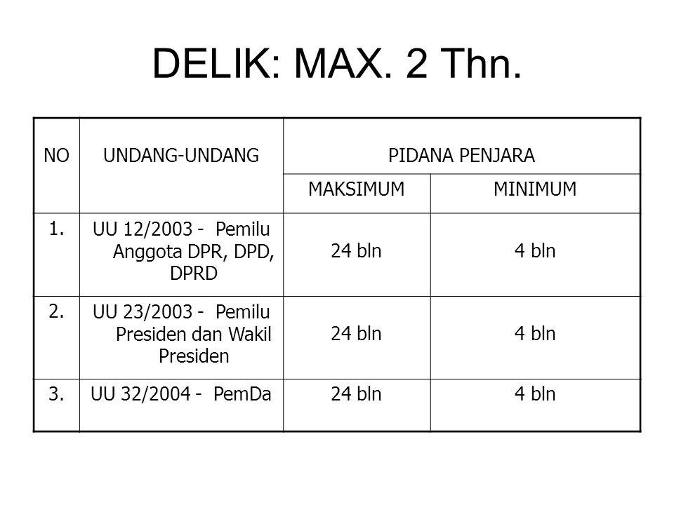 DELIK: MAX.2 Thn.