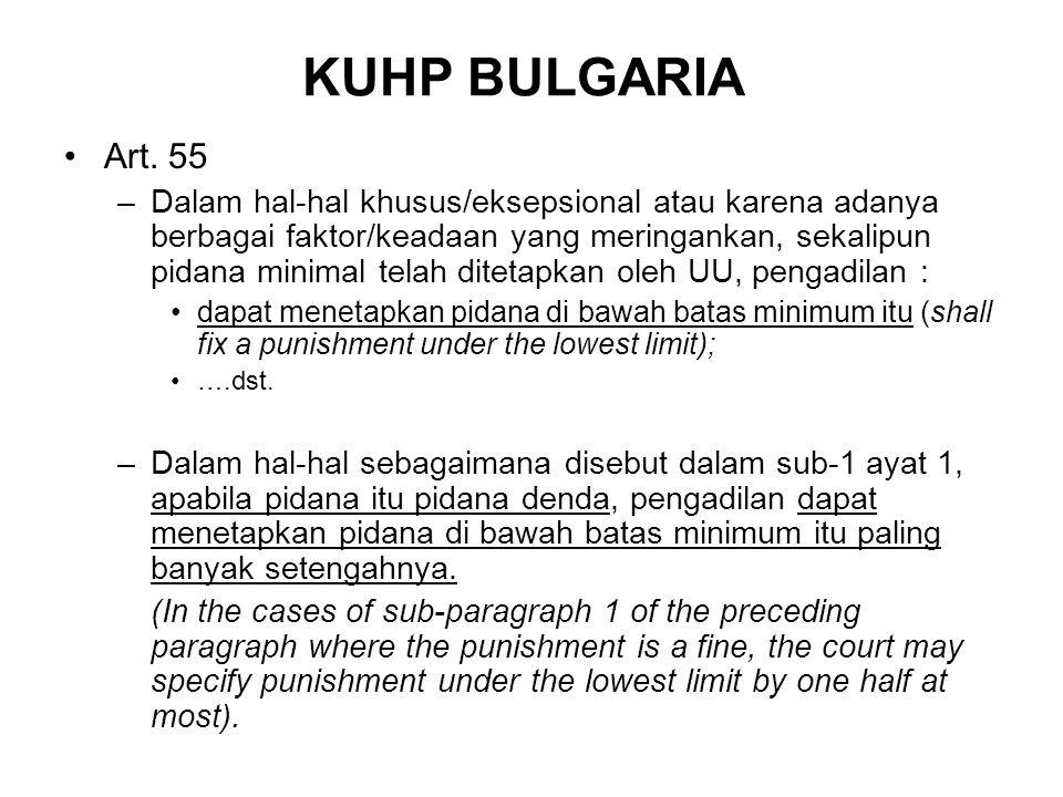 KUHP BULGARIA Art.