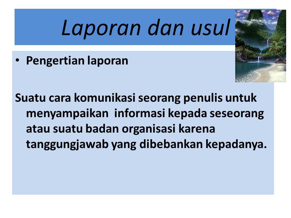 Contoh Judul Sebuah Usul/Proposal USUL Disampaikan kepada DEPARTEMEN PERHUBUNGAN REPUBLIKINDONESIA untuk PEMBANGUNAN JALAN RAYA TRANS SUMATRA No.