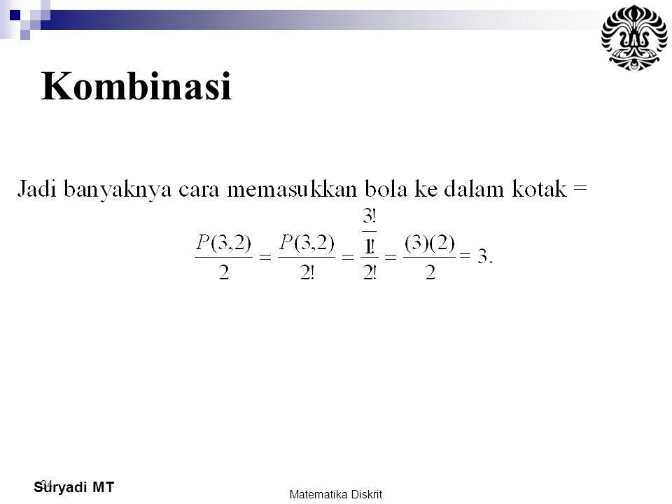 Suryadi MT 34 Kombinasi Matematika Diskrit