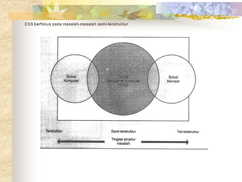 DSS berfokus pada masalah-masalah semi-terstruktur