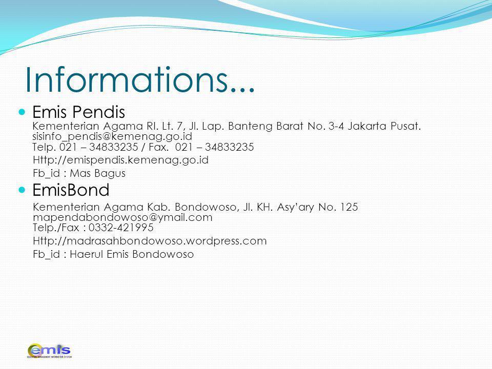 Informations...Emis Pendis Kementerian Agama RI. Lt.